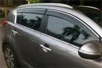 Дефлекторы окон (ветровики) с хром. вставкой для Kia Sportage 2010-2014 (Kindle, KSP-V01)