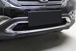Хром накладка на решетку бампера для Honda CR-V 2012+ (Kindle, CRV-C25)