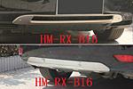 Накладки на передний и задний бампер для Lexus RX350 2009-2012 (Kindle, RX-B15-B16)
