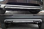 Накладка на передний и задний бампер для Kia Sportage 2010- (Kindle, DF-F-161:162)