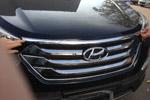 Хром накладка на передний край капота (кромка капота) для Hyundai Santa Fe 2013+ (Kindle, HS-C31)
