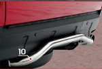 "Защита задняя Mitsubishi Outlander XL 2006 d42 ""волна малая"" (Союз-96, RSA-OXL-419)"