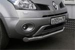 """Защита переднего бампера """"Renault Koleos"""" 2008- d 76 одинарная (Союз-96, RENK.48.0728)"""