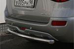 """Защита заднего бампера """"Renault Koleos"""" 2008- d 60 короткая (Союз-96, RENK.75.0734)"""