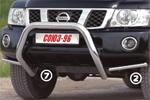 Решётка передняя Nissan Patrol 2007- d 76 мини низкая (Союз-96, NPAT.56.0508)