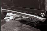 Пороги труба SsangYong Rexton 2007- d 76 с косыми заглушками (компл 2шт) (Союз-96, SYRX.80.0523)