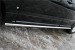 """Пороги труба """"Cadillac SRX"""" 2007- d 60 (компл 2шт) (Союз-96, CDRX.80.0613)"""