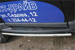 Защита штатных порогов Tager d 42 (компл 2шт) (Союз-96, TAGR.86.0700)
