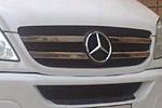 Накладка на решетку радиатора (хром) Mercedes Sprinter W906 2006- (Omsa-Prime, 000174)