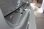Накладка на задний бампер для Volkswagen Caddy 2003- (Omsa Prime, VWCDYRBC03)