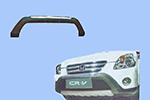 Накладка на передний бампер Honda CR-V 2002- (Power Ful, A032)