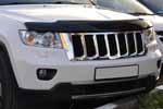 Дефлектор капота (с логотипом) для Jeep Grand Gherokee 2011- (EGR, 038081L)