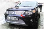 Накладка на решетку радиатора (Гриль) Mitsubishi Outlander XL (BGTPro)
