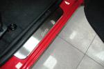 Накладки на пороги Hyundai Getz 3D 2002- (Alu-Frost, 08-0651)