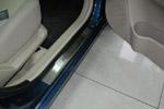 Накладки на пороги Hyundai Accent III 3D 2006- (Alu-Frost, 08-0663)