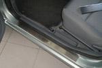 Накладки на пороги Nissan Almera II 5D 2002-2006 (Alu-Frost, 08-0801)
