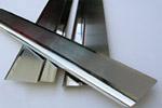 Накладки на пороги Nissan Micra III 3D 2003- (Alu-Frost, 08-0803)