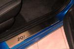 Накладки на пороги Peugeot 207 3D 2006- (Alu-Frost, 08-0871)