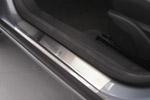 Накладки на пороги Opel Astra III Н 3D 2004-2009 (Alu-Frost, 08-0903)