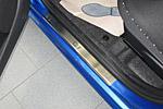 Накладки на пороги для Citroen C1 5D 2005- (Alu-Frost, 08-1159)
