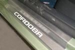 Накладки на пороги Seat Cordoba III 3D 2003-2009 (Alu-Frost, 08-1421)