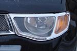 Хром накладки передних фар Mitsubishi L200 2006- (EGR, HLB226170)