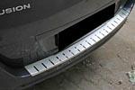 Накладка с загибом на задний бампер для Ford Fusion 2002- (Alu-Frost, 25-3466)