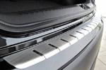 Накладка с загибом на задний бампер Renault Laguna III Combi 2007- (Alu-Frost, 25-3661)