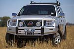 Передний бампер Nissan Pathfinder R51 05- 5D с дугой D40 WINCH BAR WITHOUT FOG LIGHT PROVISION под лебёдку (ARB, 3438130)