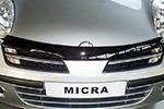 Дефлектор капота Nissan Micra 2003- (EGR, SG3444DS)