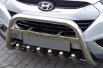 Передняя защита бампера с защитой картера и надписью для Hyundai IX35 2010- (Can-Otomotive, HYIX.35.0011)
