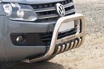 Передняя защита с защитой картера и надписью для Volkswagen Amarok 2011- (Can-Otomotive, VWAM.35.1029)