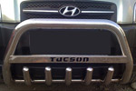 Передняя защита бампера с защитой картера и надписью для Hyundai Tucson 2005- (Can-Otomotive, HYTU.35.1220)
