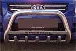 Передняя защита с защитой картера и надписью для Kia Sportage 2008- (Can-Otomotive, KISP.35.1444)