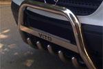 Передняя защита с защитой картера и пластиной с надписью для Mercedes Vito 2003- (Can-Otomotive, MEVI.35.1808)