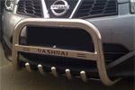 Передняя защита с защитой картера и надписью для Nissan Qashqai 2007- (Can-Otomotive, NIQA.L35.2062)
