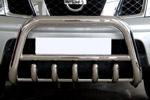 Передняя защита с трубой и защитой картера для Nissan Pathfinder 2005- (Can-Otomotive, NIPA.35.2300)