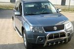 Передняя защита с защитой картера и надписью для Suzuki Grand Vitara 2006- (Can-Otomotive, SUGV.35.3198)