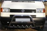 Передняя защита с надписью и защитой картера для Volkswagen T4 1996- (Can-Otomotive, VWT4.35.3740)