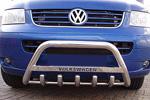 Передняя защита бампера с защитой картера и надписью для Volkswagen T5 2004- (Can-Otomotive, VWT5.35.3788)