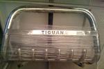 Передняя защита бампера с защитой картера и надписью для Volkswagen Tiguan 2007- (Can-Otomotive, VWTI.35.3916)