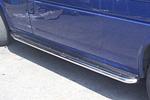 Боковые пороги с листом из нержавеющей стали для Volkswagen T4 LONG (Can-Otomotiv, VWT40210L)