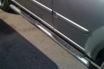 Пороги B2 труба d70 с пластиковыми приступами Nissan X-Trail 2007- (Can-Otomotive, NIXT.42.2152)