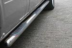Пороги B2 труба d70 с пластиковыми приступами Chevrolet Niva 2006- (Can-Otomotive, CENI.43.0122)