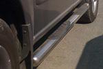Пороги B2 труба d70 с пластиковыми приступами Nissan X-Trail 2004-2006 (Can-Otomotive, NIXT.43.2272)