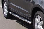 Пороги B2 труба d70 с пластиковыми приступами Hyundai Santa Fe 2006- (Can-Otomotive, HYSA.43.1182)