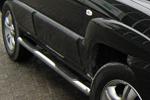 Пороги B2 труба d70 с пластиковыми приступами Kia Sportage 2008- (Can-Otomotive, KISP.43.1414)
