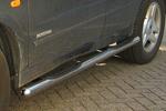 Пороги B2 труба d70 с пластиковыми приступами SsangYong Kyron  2007- (Can-Otomotive, SYKY.43.3118)