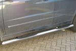 Пороги B2 труба d70 с пластиковыми приступами SsangYong Korando 2010- (Can-Otomotive, SYKO.43.3156)