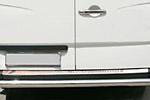 Накладка на задний бампер Mercedes Sprinter W906 2006- (Omsa-Prime, 4724093)